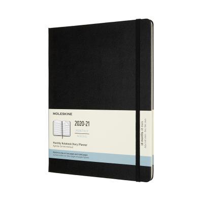몰스킨 2021먼슬리(18M)/블랙 하드 XL