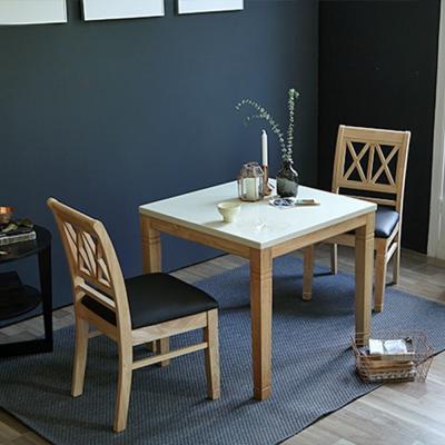 [리비니아]제이미내츄럴 토마스 2인 식탁세트