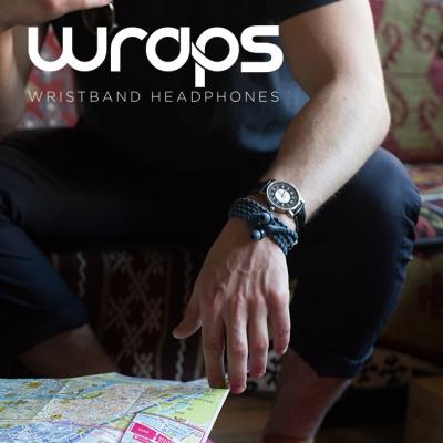 Wraps 패션팔찌 이어폰 Talk with Mic 영국브랜드