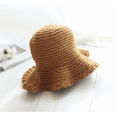 [콩지] 니트 프릴 벙거지 모자