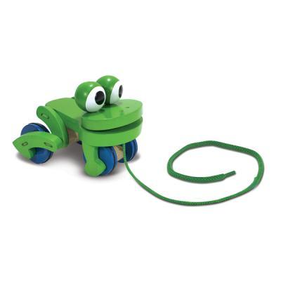 개구리 끌기 장난감