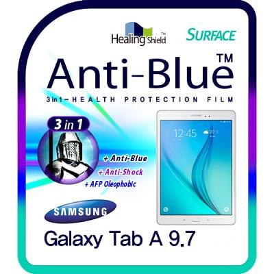 [힐링쉴드] 갤럭시탭A 9.7 SM-T550 3in1 블루라이트차단 충격흡수필름 1매+후면보호필름 2매(HS151188)