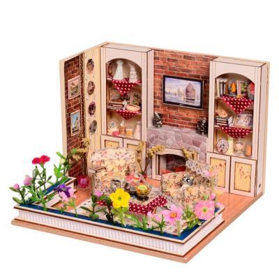 [adico]DIY 미니어처 우드 하우스 - 올드타운 거실