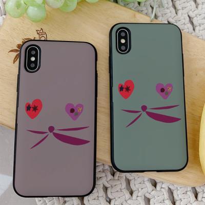 아이폰8 써니 고양이얼굴 카드케이스