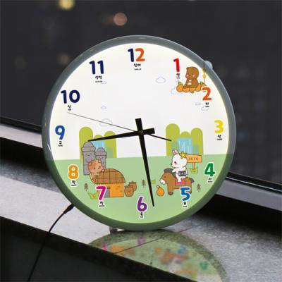 ng101-LED시계액자35R_귀여운캐릭터A