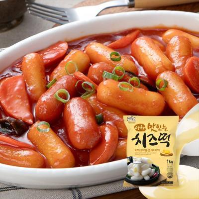 국물떡볶이 치즈떡볶이세트[치즈떡1kg+소스3봉]