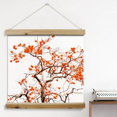 pi369-우드스크롤_60CmX60Cm-그림같은풍수감나무