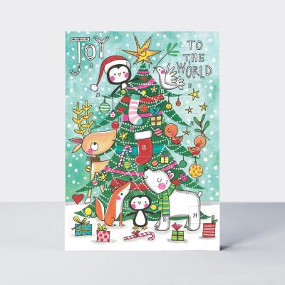 [빛나파티]트리와 동물들 크리스마스 카드