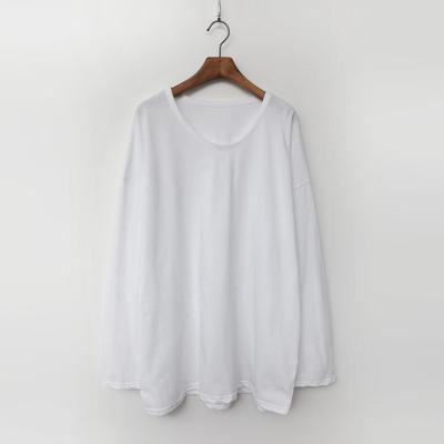 Cotton U-Neck Boxy Tee