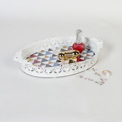 엔틱메탈 지오 장미 메이크업 트레이 스몰-4색상