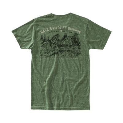 [히피트리] Freshwater Tee - Heather Army