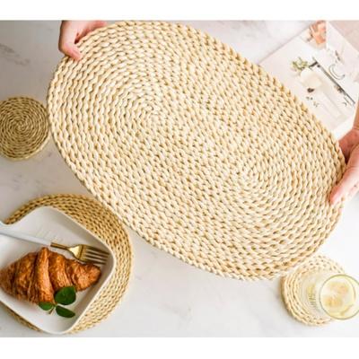 옥수수피 라탄식 식탁매트