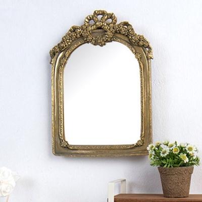 엔틱 테이블소품 탁상거울 골드 벽걸이 리본거울