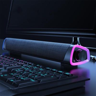 게이밍 LED 컴퓨터 스피커 레인보우 사운드바