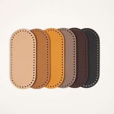 [앵콜스] 가방 가죽바닥(황금비율 타원형) 가방 뜨개