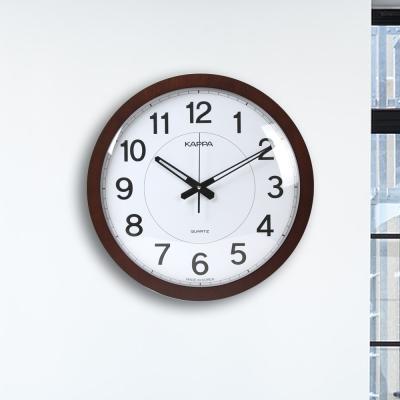 카파 무소음 W626 브라운 슬림프레임 대형 벽시계