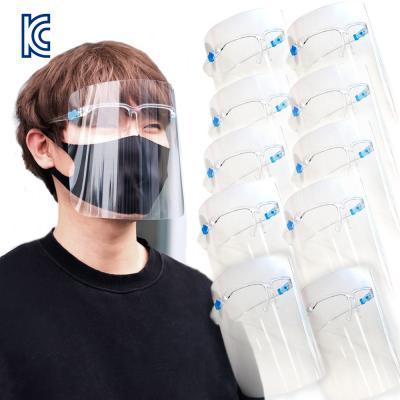 페이스쉴드 안경형 투명 안면 보호 마스크 10개입)