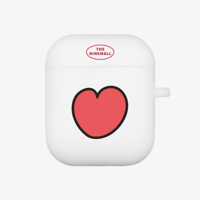 heart pattern 에어팟 케이스 [white]