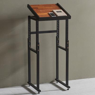 심플라인 철제 멀바우 원목 테이블 440
