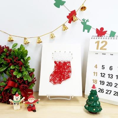 크리스마스 양말 스트링아트(스펀지)