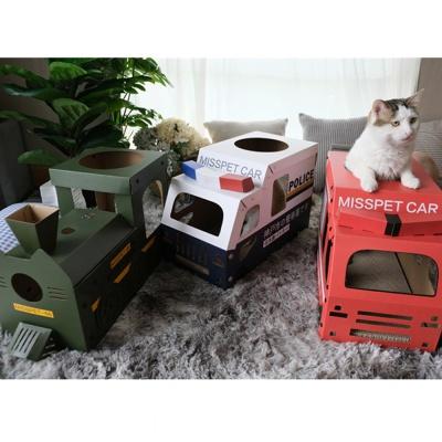 [봉봉펫닷컴] 고양이 스크래쳐 버스 박스