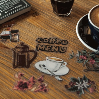 카페 띵즈 플레이크 스티커