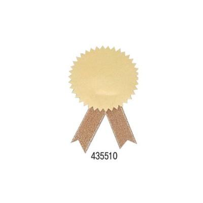 문구사무 무지상장스티커금색+금색리본 지름45mm20개