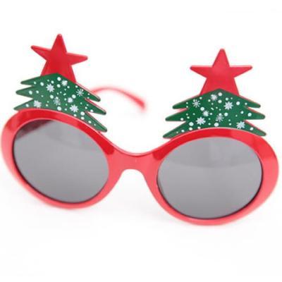 크리스마스 트리 안경 (레드)