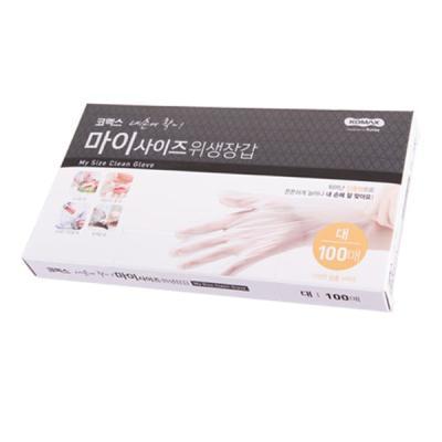 코멕스 내손에착 일회용 비닐 위생장갑(대) 100매
