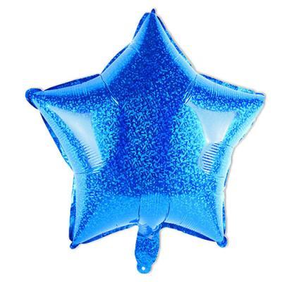 블루 반짝이 스타 호일풍선