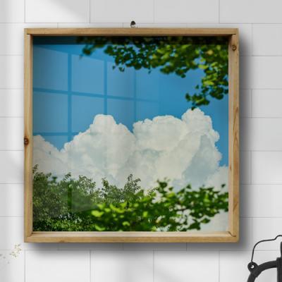 ie594-우드프레임액자_푸른하늘과나무(중형)