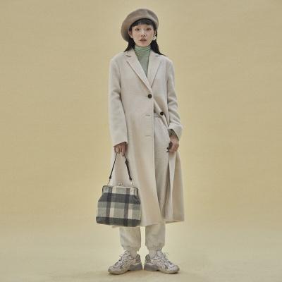 [10월25일예약배송]Amelie frame big bag_check navy