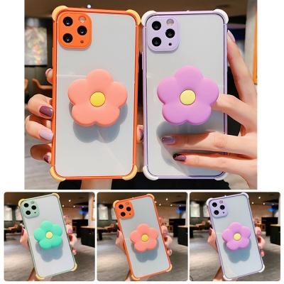 아이폰11 pro max 꽃 그립톡/테두리 컬러 범퍼 케이스