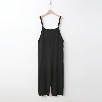 Linen Wide Crop Jumpsuit