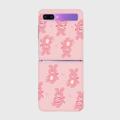 lovely bunny 패턴 Z플립 하드케이스