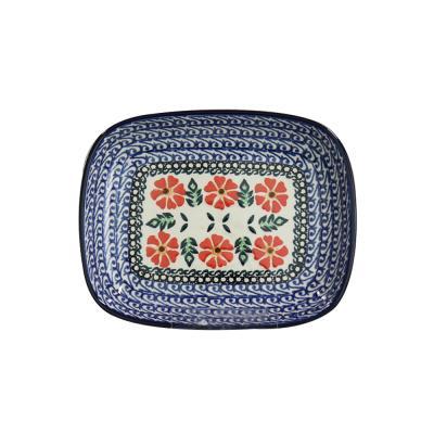 폴란드그릇 아티스티나 라운드직사각접시 소 패턴1215