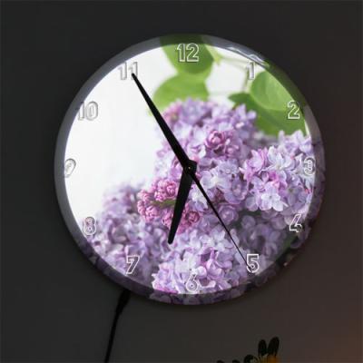 nf711-LED시계액자25R_보라빛향기라일락