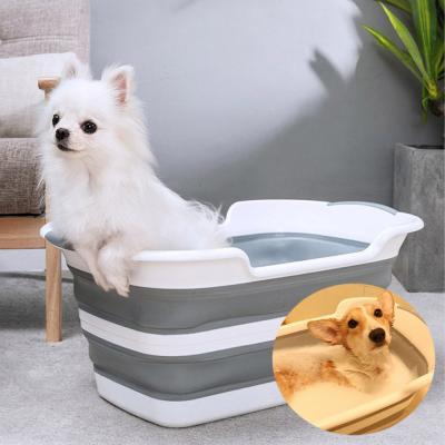 애견 동물 목욕 접이식 욕조