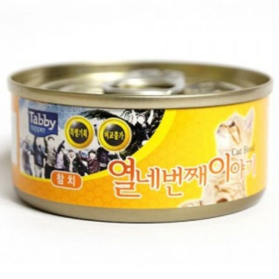 고양이 간식 캔 통조림 테비 참치 60g