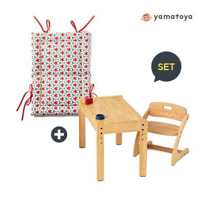 [야마토야] 아치체어 유아 원목의자+아치체어 전용쿠션 SET