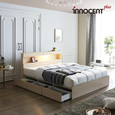 [이노센트] 리브 데이젠 LED 멀티수납형 침대 Q/K