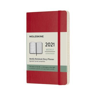 몰스킨 2021위클리/스칼렛레드 소프트 P