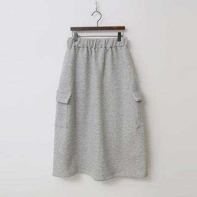Gimo Pocket Easy Long Skirt - 기모안감