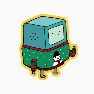 어드벤처타임 크리스마스 카드 - 비모