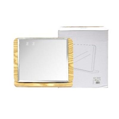샤인빈 가로사각형 원목 탁상 거울 메이크업 욕실