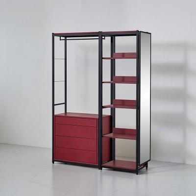 카소 철제 드레스룸 1400 서랍 선반 거울장 세트