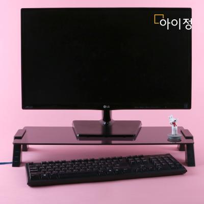 스마트독컴팩트 USB 모니터받침대 C706 블랙유리/블랙