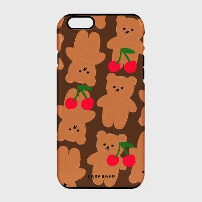 Dot cherry big bear-brown(터프/슬라이드)