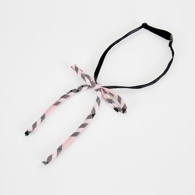 베이비 핑크 끈리본 교복넥타이 넥타이