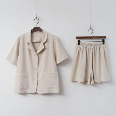[Set] Linen Cotton Jacket + Shorts